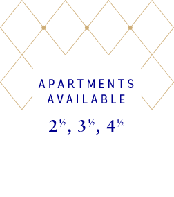 Apartments available : 2 1/2 - 3 1/2 - 4 1/2