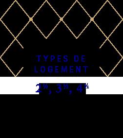Type offerts : 2 1/2 - 3 1/2 - 4 1/2