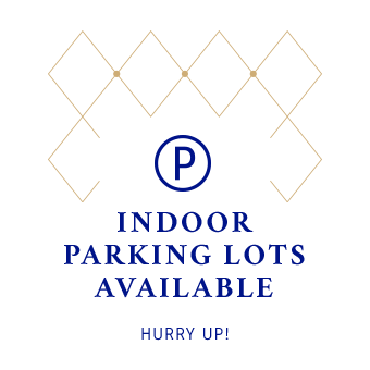 Indoor parking lots available